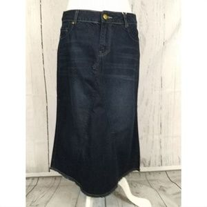 "28"" Long midi denim jean skirt NWT Boutique"